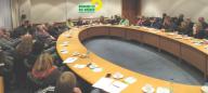 Bild: 50 GRÜNE BildungspolitikerInnen diskutierten engagiert mit NRW-Schulminist