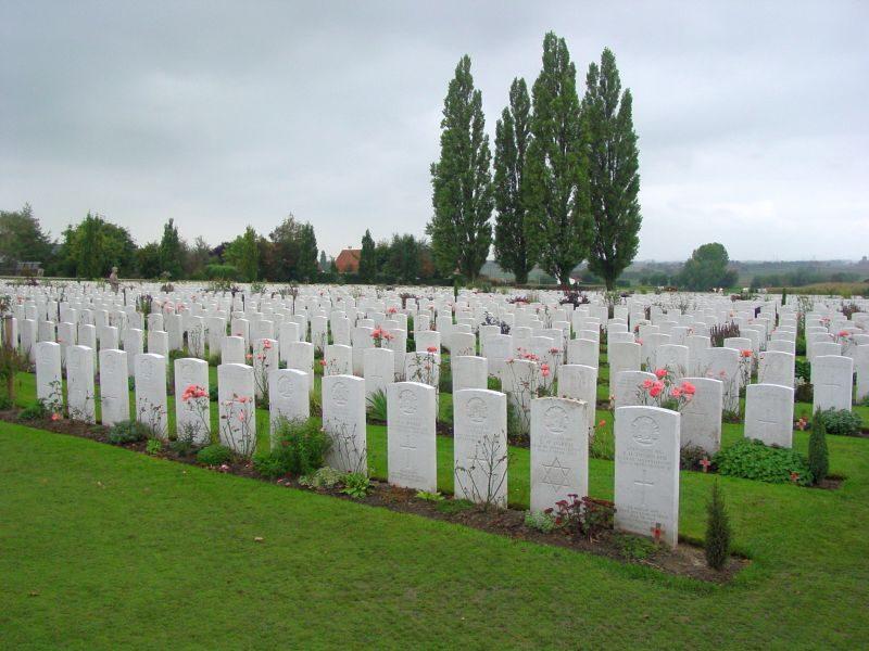 Kriegsgräber in Flandern