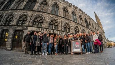 Gruppenbild LWL-Berufskolleg – Fachschulen Hamm begegneten mit GRÜNER Unterstützung deutscher Vergangenheit in Flandern